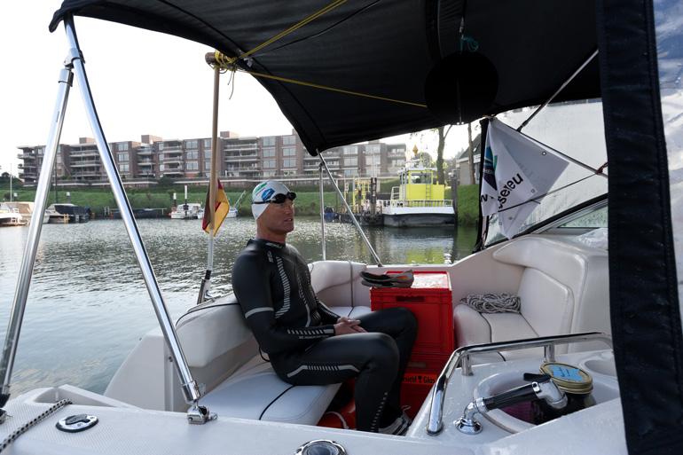 Andreas auf dem Boot