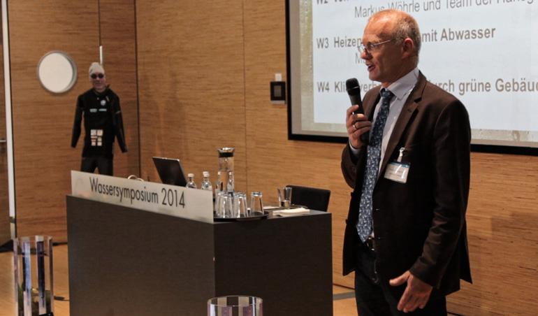 Andreas beim Vortrag